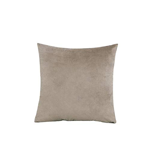Velvet Throw Pillow Cover Soft Decorative Square Cushion Case for Sofa Bedroom Car Home 55x55/60x60cm Cozy Pillowcase-Beige,45x45cm