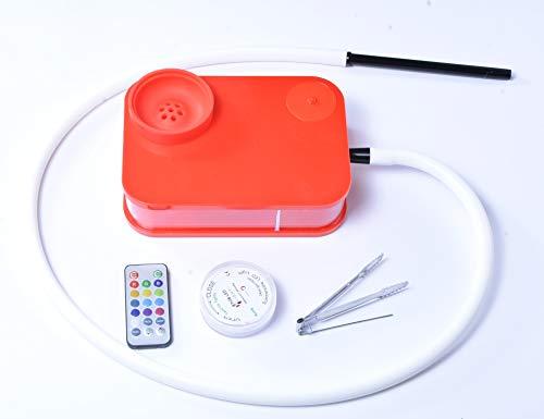 XZYP Arabische Moderne Hochwertige Wasserpfeife, Arabische Wasserpfeife Set Square Box Acryl Wasserpfeife Shisha-Wählen Sie Ihre Farbe,Rot