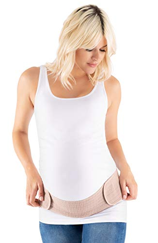 Belly Bandit 2 in 1 Bandit - Belly and Back Support Maternity Band - XS-M Nude
