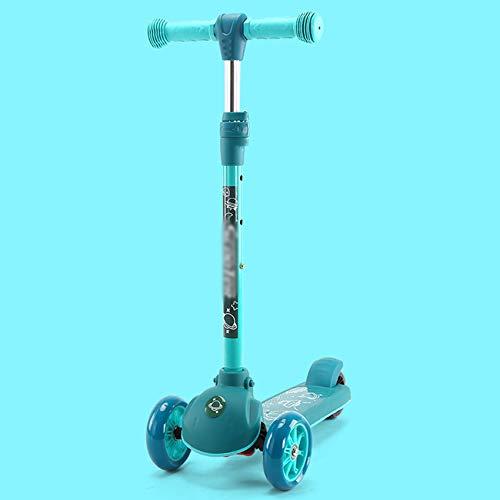 FRTG Kinder Kick Roller Faltkind PU 3 Räder wachsen Outdoor-Spielzeug 2-8 Jahre alt Bodybuilding Demontage...