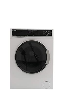 Sharp ES-HFB914AW3-EN Freestanding Washing Machine with Advanced Inverter Motor and Allergy Smart mode, 9kg Load, 1400rpm Spin, White