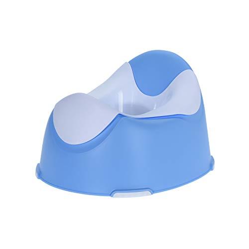 Wellgro - Vasino per Bambini con Inserto Estraibile, Piedini Antiscivolo, Blu o Rosa, Colore a Scelta Blu