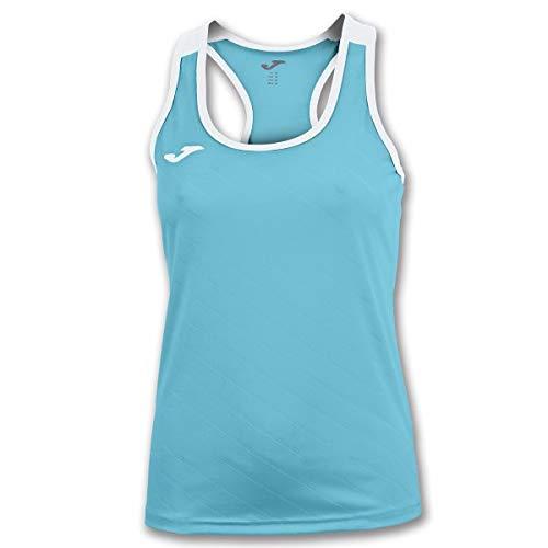 Joma Torneo II T-Shirt à Manches Courtes pour Femme S Turquoise-Blanc