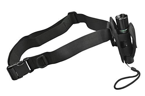 Jadedragon Universal-Nylon-Holster-Tasche für Taschenlampe, Taschenlampentasche für Gürtel, Tragetasche, Halterung, Taschenlampenhalterung mit 360 Grad drehbarem Clip (inklusive Gürtel)