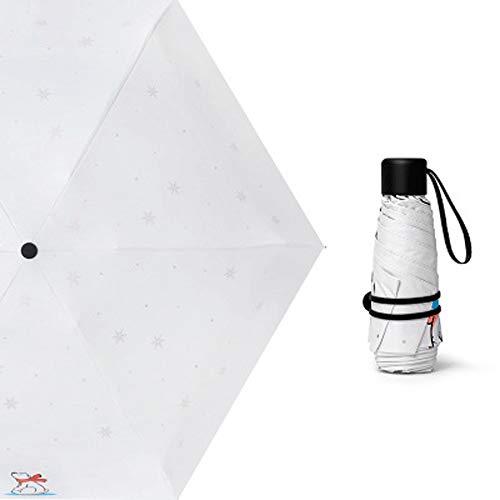 AZZ Draagbare Automatische creatieve winddichte paraplu, Travel Parasol Windproof, luifel automatisch openen Waterdichte zonnebrandcrème Oversized, Kleur: wit