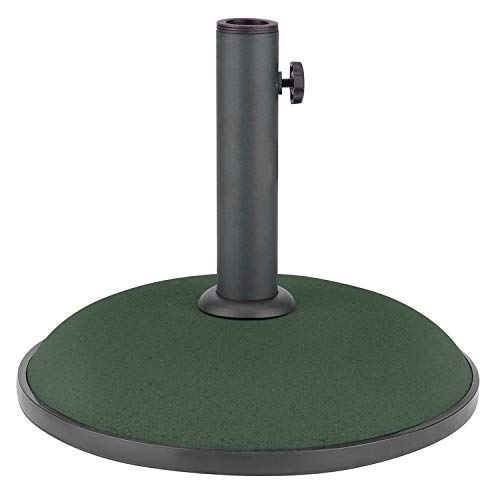 Crystals Round Concrete Parasol Base for Garden Patio Umbrella Sunshade...