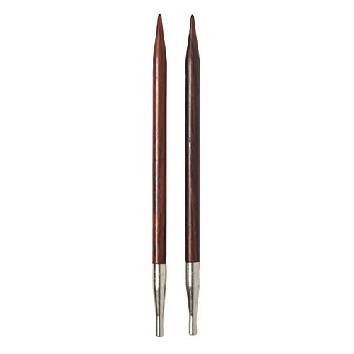 Knit Picks Cocobolo Wood Interchangeable Knitting Needle Tips US 6 (4.0 mm)