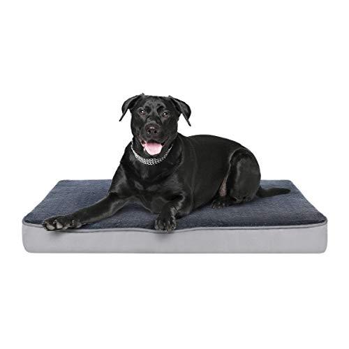 Focuspet Hundekissen mit Memory Foam, Hundematte Hundebett 89x56x7.5cm, L