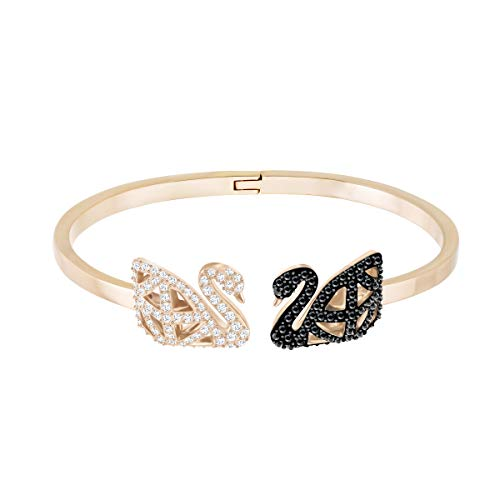 Swarovski Bracciale Rigido Facet Swan, Multicolore, Mix Di Placcature