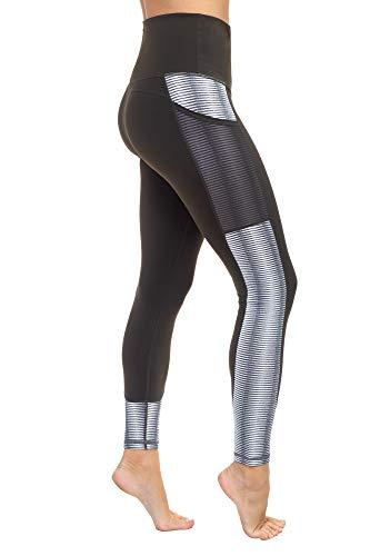 AEKO Yoga Power Flex Fit Laufhose Workout Leggings 4-Wege-Stretch für Damen - Gr�n - 32-34