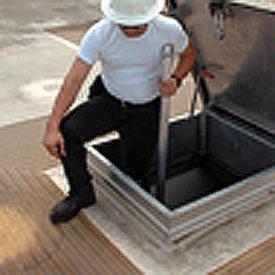 Telescoping Safety Post, Aluminum