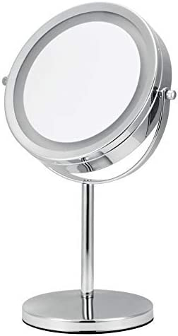 BINGFANG-W Mirror Led Round Rotatio Latest item 7Inch Makeup 35% OFF 360°