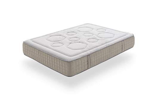Moonia -Materasso Memory Foam Hexagon Spring, 80X180cm, Letto Singolo, Altezza - +/- 28 cm- Tutte Mesure