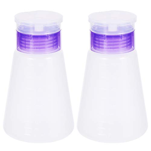 Minkissy 2Pcs Distributeur de Dissolvant de Vernis à Ongles Distributeur de Pompe de Dissolvant de Maquillage Appuyant sur La Bouteille de Voyage pour Dissolvant de Vernis Huiles Essentielles