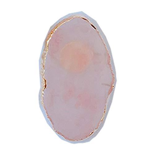 Mini bagues de colle pour extension de cils - Outil de nail art - Pierre de jade réglable individuellement - Support adhésif pratique et pratique - Pigment professionnel (blanc)