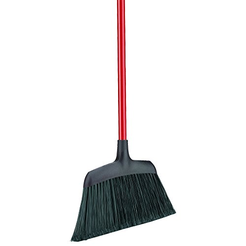 """Libman Commercial 994 Commercial Angle Broom, Steel Handle, 54"""" Length, 13"""" Width, Black/Red (Pack of 6)"""