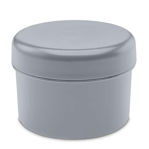 Koziol Rio Vorratsdose mit Deckel, Aufbewahrungsdose, Frischhaltedose, Kunststoff, Cool Grey, 8 cm, 3045632