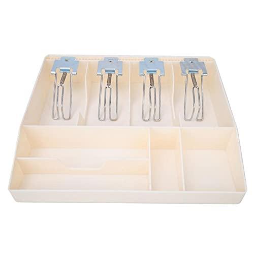 SALALIS Cajón de Efectivo, Caja de Almacenamiento de Moneda, diseño de Ocho Compartimentos de Metal para escuelas, supermercados, Casas de huéspedes(White)