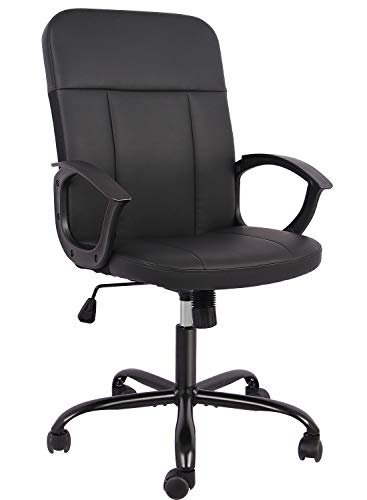 SMUGDESK Office Chair Bonded Leather Home Desk Chair Computer Chair with and Armrest