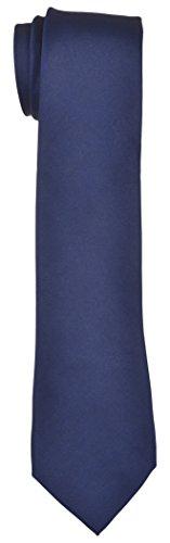 Blacksmith Slim Blue Satin Tie for Men