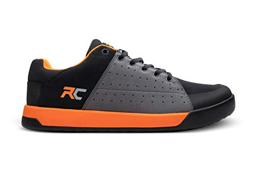 Ride Concepts Men's Livewire Flat Pedal Mountain Bike Shoe Charcoal/Orange 10.5 M US