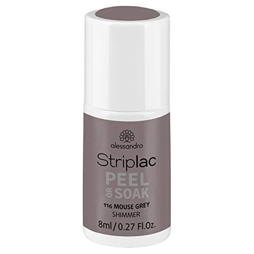 alessandro Striplac Peel or Soak Mouse Grey – LED-Nagellack in zartem Grau – Für perfekte Nägel in 15 Minuten – 1 x 8ml