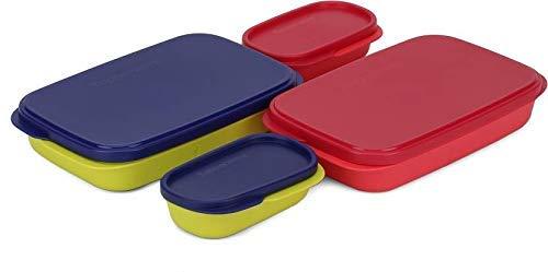 Tupperware Mylunch Medium Plastic Tiffin Box, Set of 2 (500ml Each)