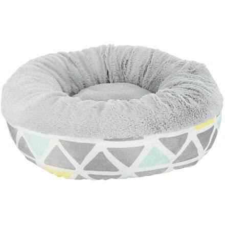 Cama redonda de felpa suave Trixie para roedores, ø 35 × 13 cm, color/gris, camas, capullos, almohadillas, túneles de tela