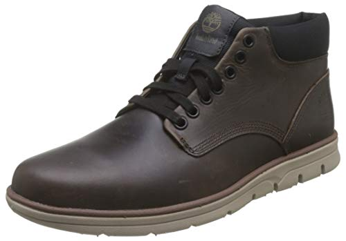 Timberland Bradstreet Leather Sensorflex, Botas Chukka para Hombre, Marrón/Navy, 43 EU