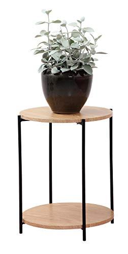 DAY - USEFUL EVERYDAY Beistelltisch, Wohnzimmertisch, Rundtisch, Blumenständer Skandinavisches Design Holz aus MDF mit PVC Rahmen Ø40xH50CM