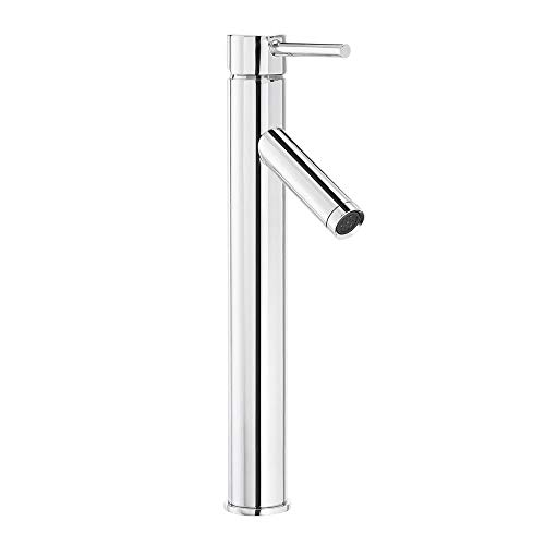 Glacier Bay Modern Single Hole Single-Handle Vessel Bathroom Faucet in Chrome with Drain
