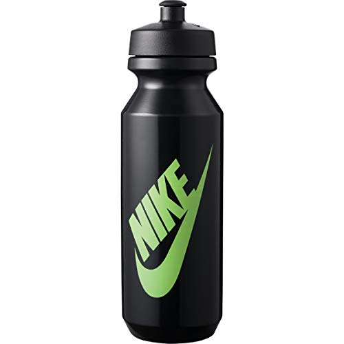 Nike Unisex – Adulto Big Mouth Bottle 2.0 botella de agua, negro/verde/negro, 946 ml