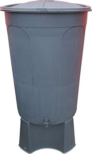 Durable tool Wasserbehälter mit Ständer, Wasserhahn und Deckel, 200 l, Schwarz