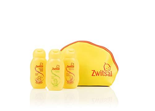 Zwitsal Kleintje op Reis Geschenkset 4-delig - Bodylotion, Wasgel en Shampoo en Reistasje Cadeaupakket - 1 pakket