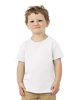 Fruit of the Loom Toddler s coverstitched Bottom Hem T-Shirt White 4T