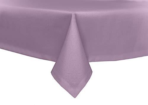 TextilDepot24 Mantel para mesa de jardín (aspecto de lino, antimanchas, no necesita planchado, 160 x 160 cm), color lila