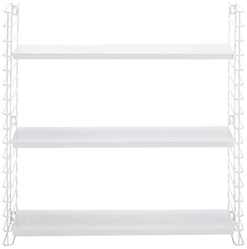 Tomado Zeitloses und modulares Wandregal, weiß, 70x21x68 cm