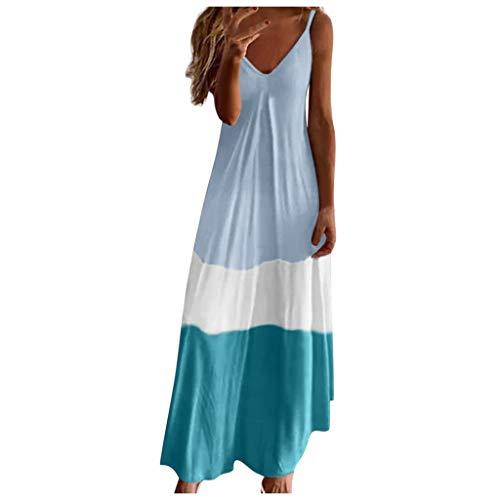 Damenkleider Sommer Knielang Tunika Kleider Damen Sommer Islamische Kleidung Frauen Kleider Sommer Damen Kleider Große Größen Damen Japanische Kleidung Abiballkleid Schöne(Grau,M)