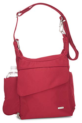 Travelon Anti-Theft Messenger Bag (Cranberry/Grey Lining)