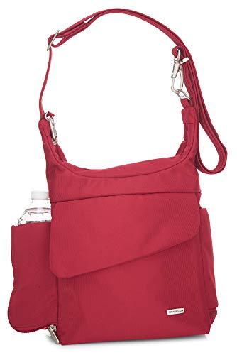 Travelon Anti-Theft Messenger Bag (Cranberry/Grey Lining)