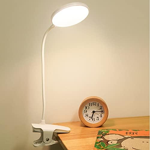 4.5W Lámpara De Lectura Recargable Para Libro Cama Con Pinza Con 3 Modos De Color 18 Piezas LED Luz De Escritorio LED Táctil Flexible Luz De Lectura Para Libros En La Cama