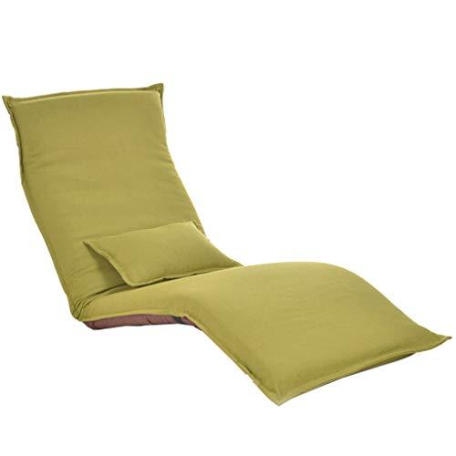 Fauteuil Inclinable Canapé Pliable Moderne, Chaise De Balcon, Salle De Séjour (Color : Green)