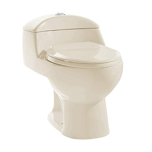 Swiss Madison Well Made Forever SM-1T803BQ Chateau One Piece Elongated Dual Flush Toilet In Bisque 0.8/1.28 gpf