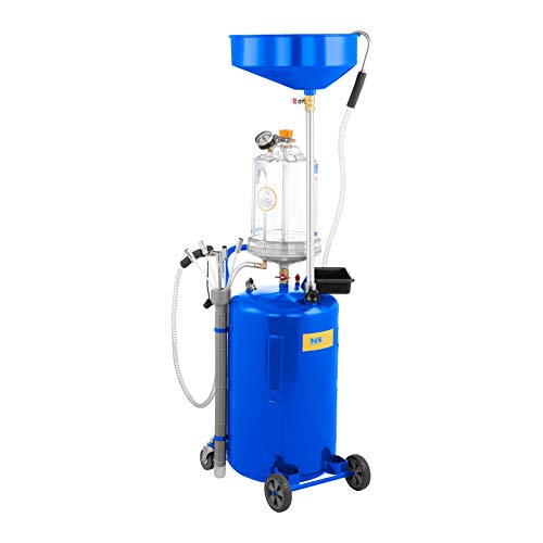 MSW Ölablassgerät Ölablasswanne Ölauffangbehälter mit Druckluft MSW-OBG80D (Tank 75 L, Auffangschale 10 L, Luftverbrauch 150 l/min, Arbeitsdrucks 9 bar)