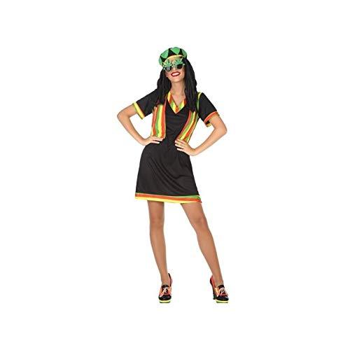 Atosa-53886 Atosa-53886-Disfraz Jamaicana-Adulto XS a S-Mujer, Color negro (53886
