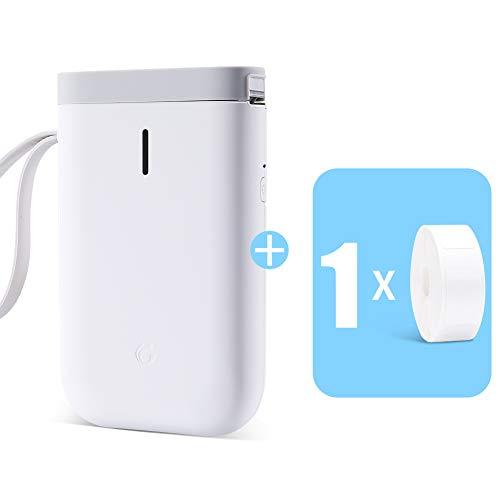 Label Printer,D11 Mini Smart Label Maker with Bluetooth Thermal Label Printer Machine (1 Roll Paper, D11 Label Printer)