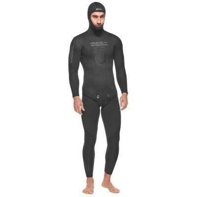 Seac Herren Race Flex Comfort 7 Speerfischen Anzug, Long John 7mm XXXXL, Schwarz