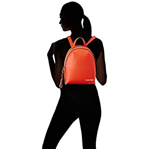 31R8Y3DhXDL. SS300  - Calvin Klein - Stride Sml Backpack, Mochilas Mujer, Naranja (Tangerine), 1x1x1 cm (W x H L)