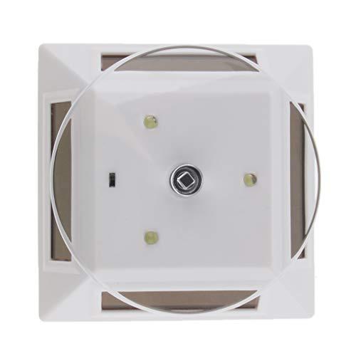 kowaku Soporte de Pantalla Giratorio con Energía Solar de 360 Grados, Placa Giratoria con Luz LED, Blanco
