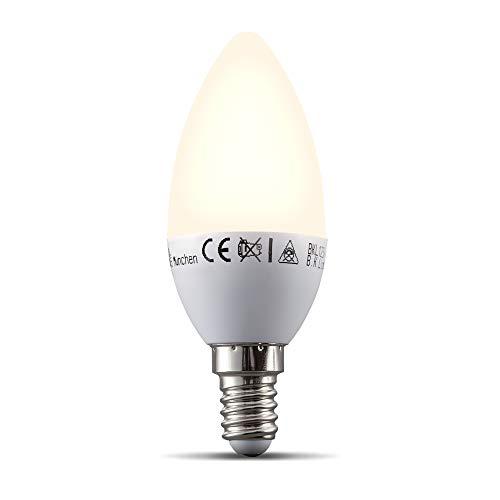 B.K.Licht Lampadina LED smart E14, dimmerabile con App smartphone, luce calda 2700K, adatta al controllo vocale, lampadina Wi-Fi 5.5W 470Lm, attacco piccolo E14